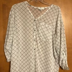 CAbi sheer blouse